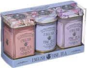 New English Teas - Loose Eng Fine Tea Floral Mini Tin 3pce