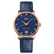 Mido - Baroncelli Auto. Gents Blue Dial/Rose Gold Watch 40mm