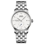 Mido - Baroncelli Auto. Gents White Dial S/Steel Watch 38mm