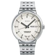 Mido - All Dial Auto. Gents White Dial S/Steel Watch 42mm