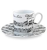 Konitz - Vivaldi Libretto Espresso Cup and Saucer Set