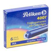 Pelikan - 4001 Royal Blue Ink Cartridge Set 6pce