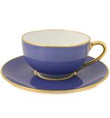 Limoges - Legle Provencal Blue Teacup & Saucer