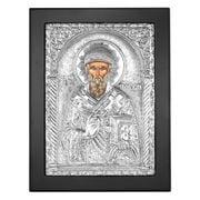 Clarte Icon - St Spyridon in Black Frame 18x23cm