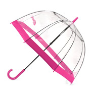 Clifton - Birdcage Umbrella with Pink Border
