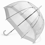 Clifton - Birdcage Umbrella with Silver Border
