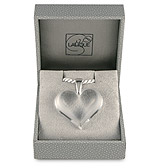 Lalique - Heart Clear & Silver Large Pendant