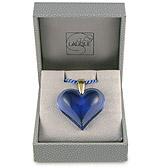 Lalique - Heart Sapphire & Gold Large Pendant