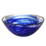 Kosta Boda - Contrast Bowl Blue Large