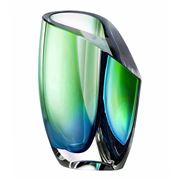 Kosta Boda - Mirage Green & Blue Short Vase
