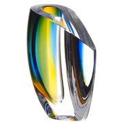 Kosta Boda - Mirage Blue & Amber Short Vase