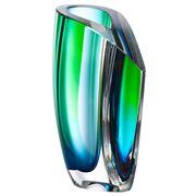 Kosta Boda - Mirage Green & Blue Tall Vase