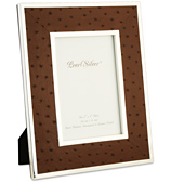 Pearl Silver - EP Brown Leather Frame 10x15cm