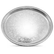 Whitehill - Silver Plated Oval Gallery Tray 40cm