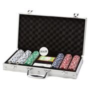 Jackpot - Texas Hold 'Em 300 Chip Poker Set with Case