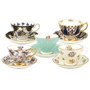 Royal Albert - 100 Years Teacup & Saucer Set 10pce 1900-1940