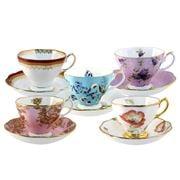 Royal Albert - 100 Years Teacup & Saucer Set 10pce 1950-1990