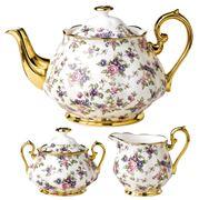 Royal Albert - 100 Years 1940s Teapot Set 3pce