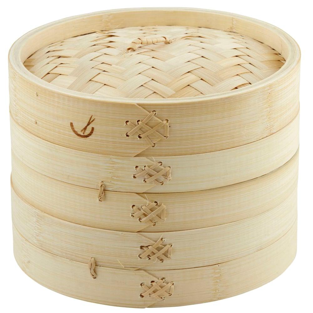 Davis amp Waddell Asia One 2 Tier Bamboo Steamer 20cm