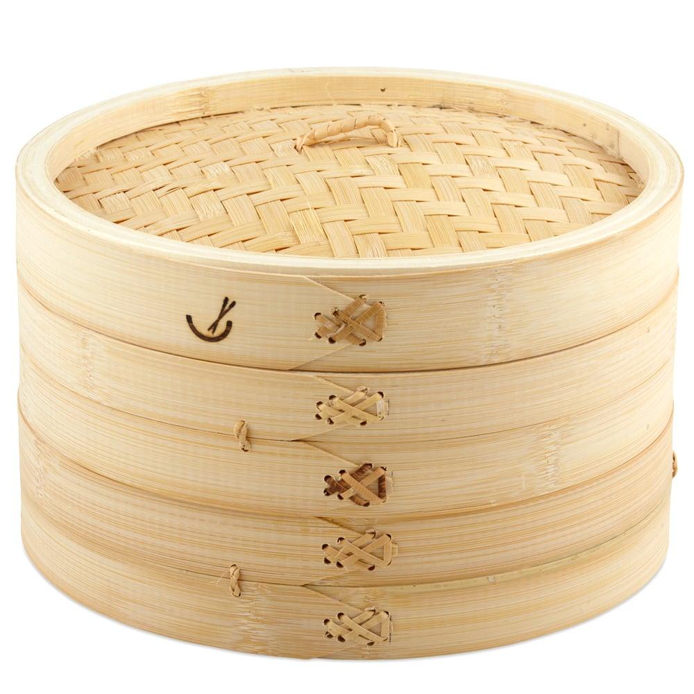 Davis & Waddell - Asia One 2 Tier Bamboo Steamer 26cm ...