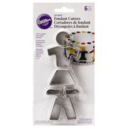 Wilton - People-Shaped Fondant Cutters 6pce