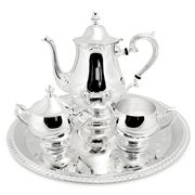 Whitehill - Silver Plated Tea Set with Gadroon Tray