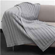 Bemboka - Pure Soft Combed Cotton Throw Flat Rib Grey