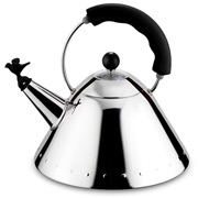 Alessi - Michael Graves Kettle with Bird Whistle Black