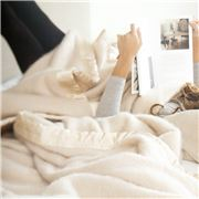 St Albans - Mohair Ivory Queen Size Blanket