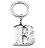 Whitehill - Silver Glitter Initial Keyring B