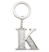 Whitehill - Silver Glitter Initial Keyring K