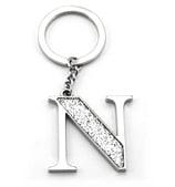 Whitehill - Silver Glitter Initial Keyring N