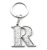 Whitehill - Silver Glitter Initial Keyring R