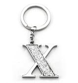 Whitehill - Silver Glitter Initial Keyring X