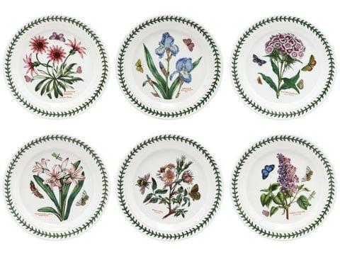 Portmeirion botanic garden entree plate set 6pce peter for Portmeirion dinnerware set of 4 botanic garden canape plates