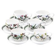 Portmeirion - Botanic Garden Breakfast Cup & Saucer Set 6pce