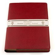 Fiorenza - A5 Bonded Leather Book Cover & Journal Red