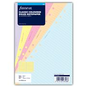Filofax - A5 Classic Coloured Ruled Notepaper Refill