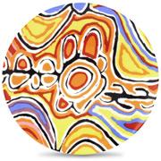 Alperstein - Aboriginal Art Judy Watson Plate