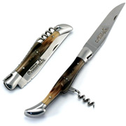 Laguiole - Folding Knife with Corkscrew Solid Horn