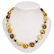Antica Murrina - Frida Gold Amber Murano Necklace