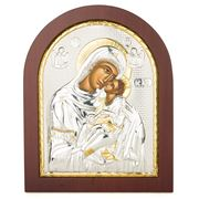 Clarte Icon - Holy Virgin Mary Kissing in Wooden Frame 20x25