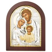 Clarte Icon - Holy Family in Wooden Frame 20x25cm