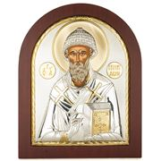 Clarte Icon - St Spyridon in Wooden Frame 20x25cm