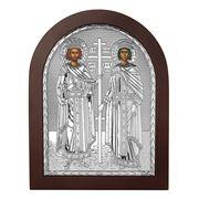 Clarte Icon - St Constantine & Helen in Wooden Frame 25x20cm
