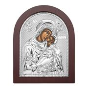 Clarte Icon - HV Mary Kissing Lovingly Wooden Frame 25x20cm
