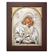 Clarte Icon - Holy Virgin Mary Kissing Lovingly Gold 15x19cm