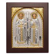 Clarte Icon - St Constantine & Gelen Gold 10.5x12.5cm