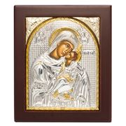 Clarte Icon - HV Mary Kissing Lovingly Gold 10.5x12cm
