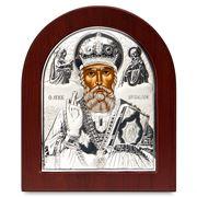 Clarte Icon - Silver Axion St Nicholas 13x11cm